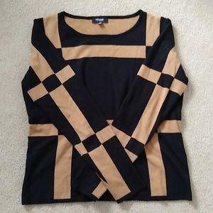 Sweater black & brown